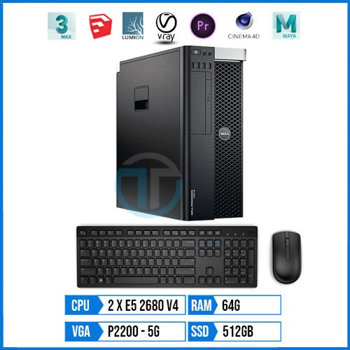 Dell Workstation T7810 – Render DS02 | Dual Xeon E5 2680v4